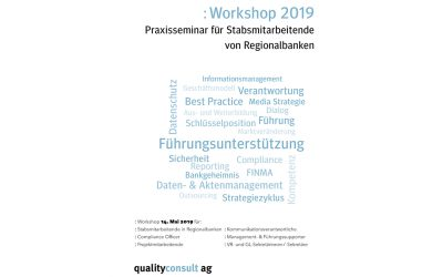 Workshop für Stabsmitarbeiter / GL-Sekretäre / Führungssupporter